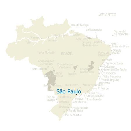 MAP Brazil Sao Paulo