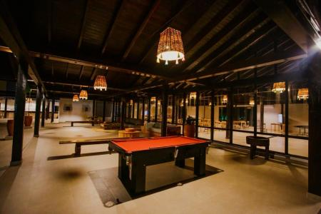 Snooker and other activities at night, Santa Rosa Lodge in the Pantanal