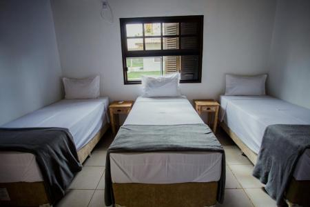Example of a triple room at Santa Rosa Lodge in the northern Pantanal, Brazil