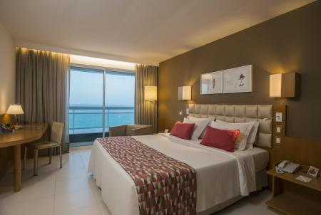 A double room with seaview at Hotel Luzeiros in Sao Luis, Brazil