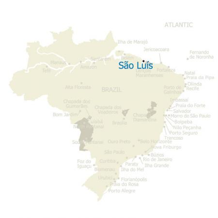 Map of Sao Luis and Brazil