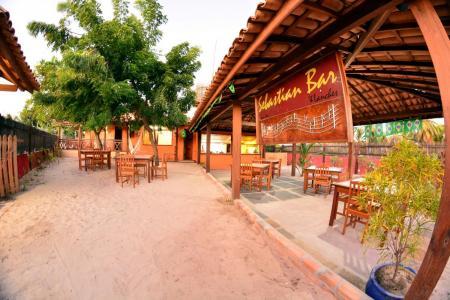 A nice typical beach bar at Pousada Jurara