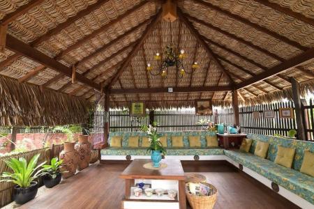 Open air Zen area at Pousada Jurara