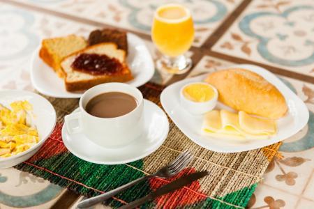 A nice breakfast at Pousada Jurara