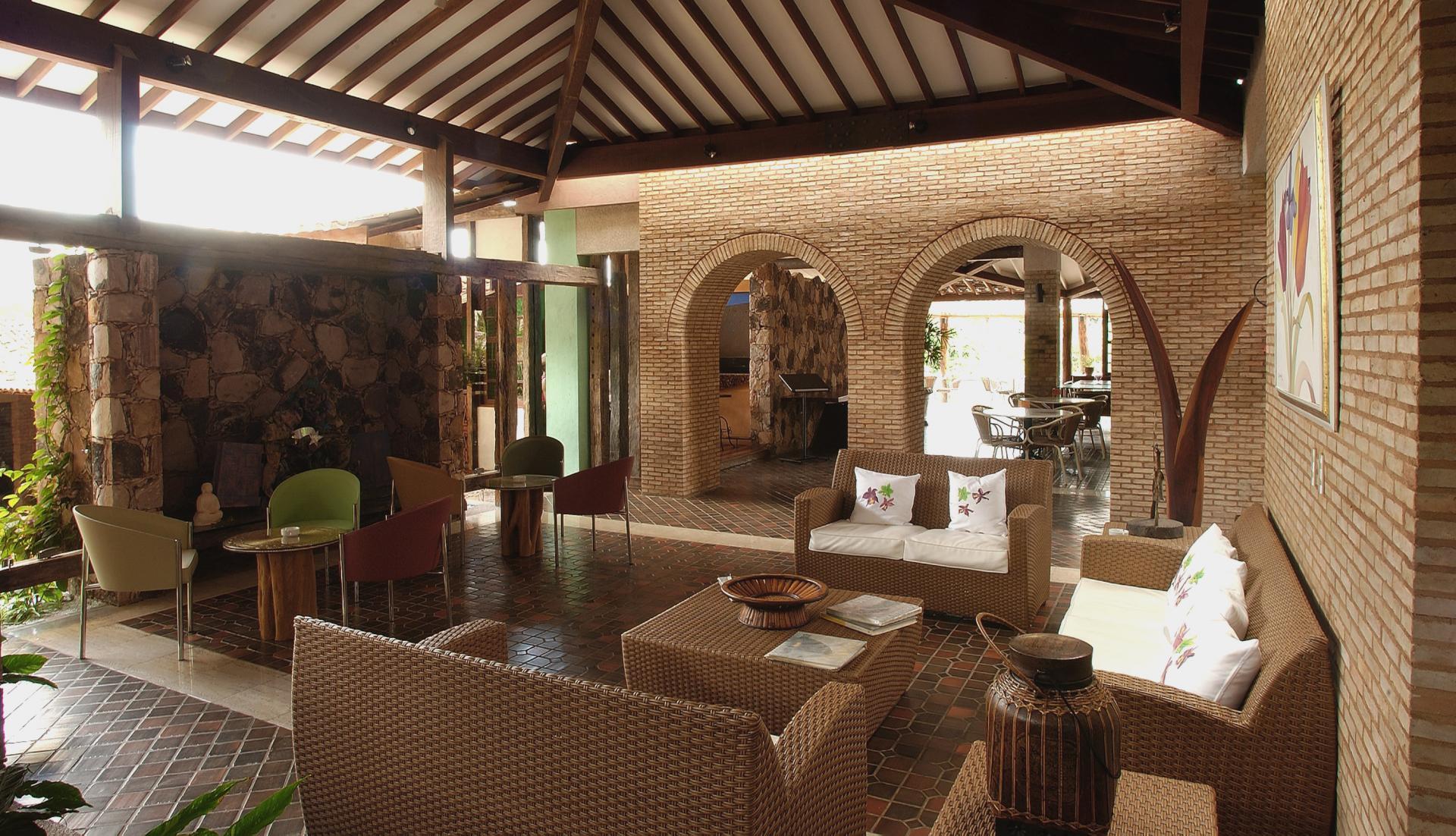 Lobby with Sofas at Hotel Canto das Aguas - Chapada Diamantina, Bahia