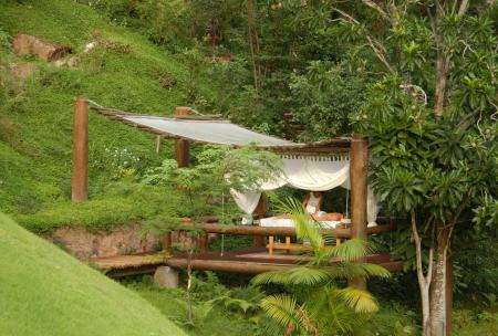 Outdoor Spa and Massage area at Hotel Cantos das Aguas