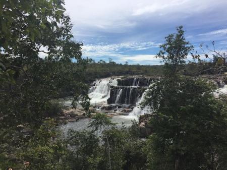 Segredo waterfall in the Chapada dos Veadeiros