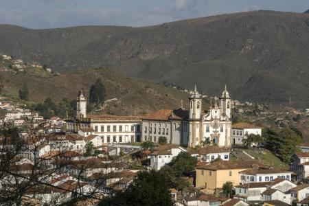 View of Ouro Preto in the mountains