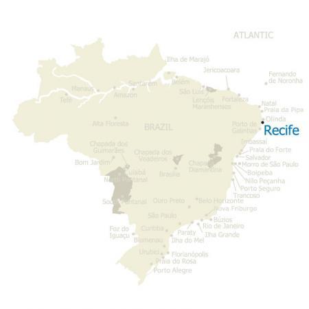 MAP Brazil Recife