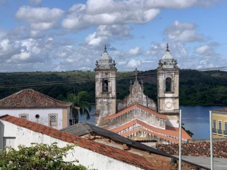 View of the church and backland in Penedo