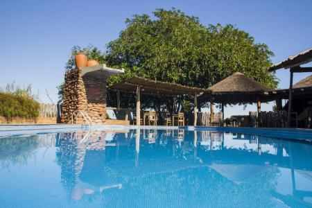 The pool area at Pousada Aguape, in the southern Pantanal