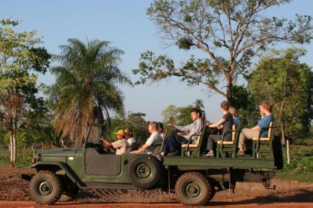 Jeep Safari into the Pantanal wetlands, near to Pousada Aguape