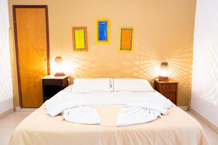 Example of a double room at Pousada Aguape