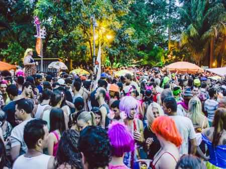 The streets during Carnival in Rio