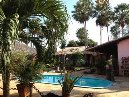 The outdoor pool at Pousada Vila Parnaiba in the Lencois Maranhenses