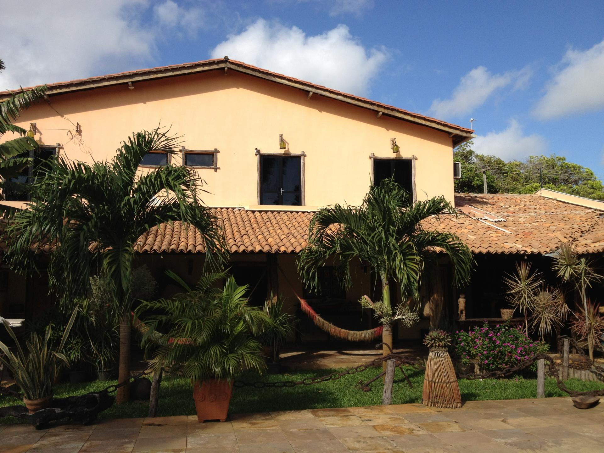 External view on the entrance area of Pousada Vila Parnaiba