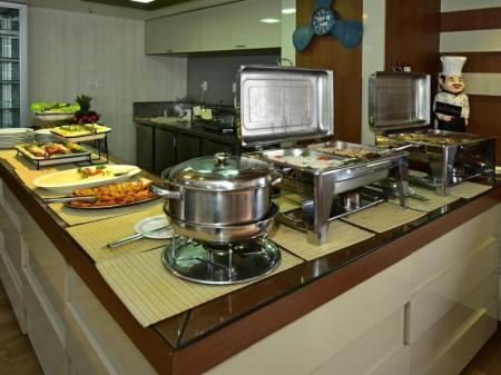 Breakfast on board of the Yacht Millenium